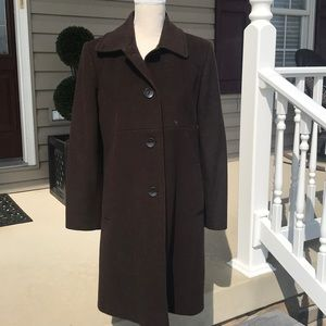 Larry Levine full length wool coat